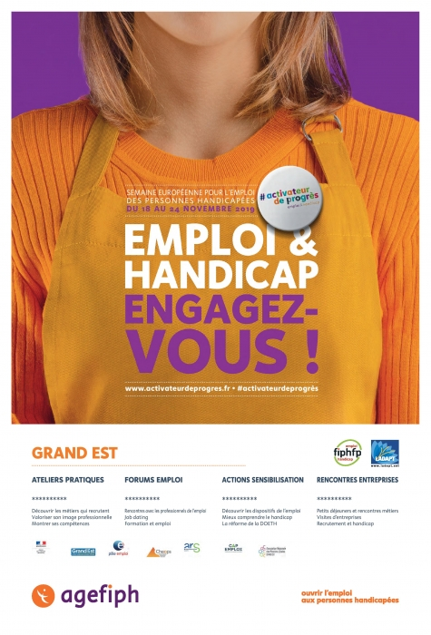 Semaine Européenne pour l'emploi des personnes handicapées du 18 au 23 novembre 2019.
