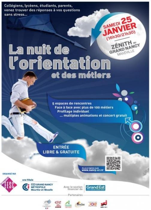 Nuit de l'Orientation à Nancy le 25 01 2020 - Zénith
