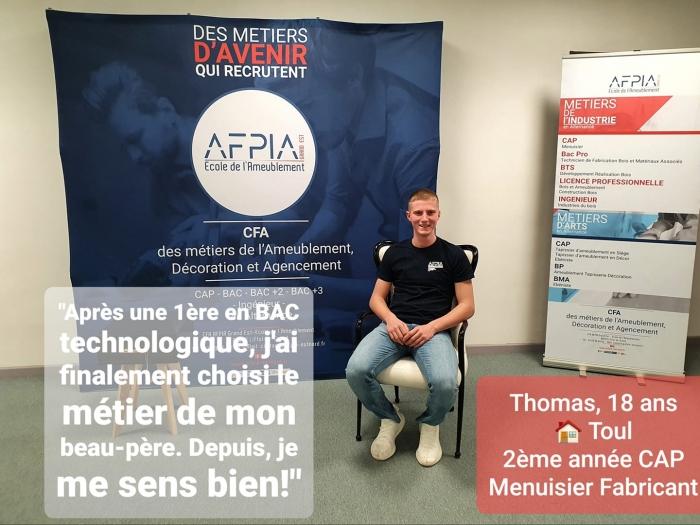 Portrait du jour: Rencontre avec Thomas, apprenti en CAP MENUISIER FABRICANT