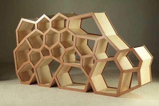 etagere nid d abeille - Mobidecouverte 2010